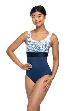 Manon Leotard with Paisley Print