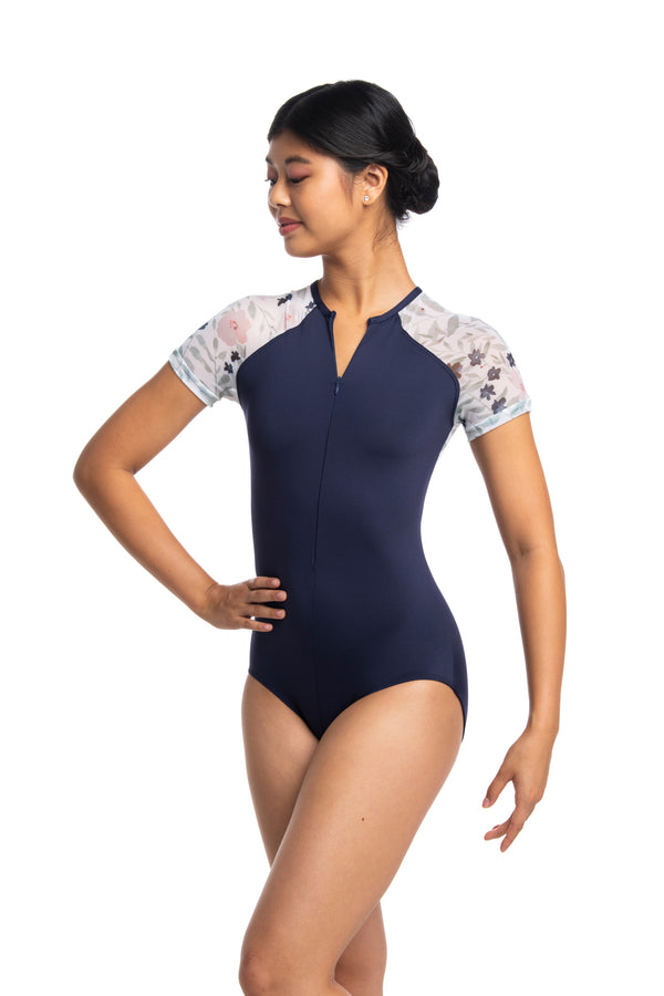 ★ Emily Leotard with Pastel Bloom Print