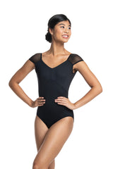 Paloma Leotard with Mesh