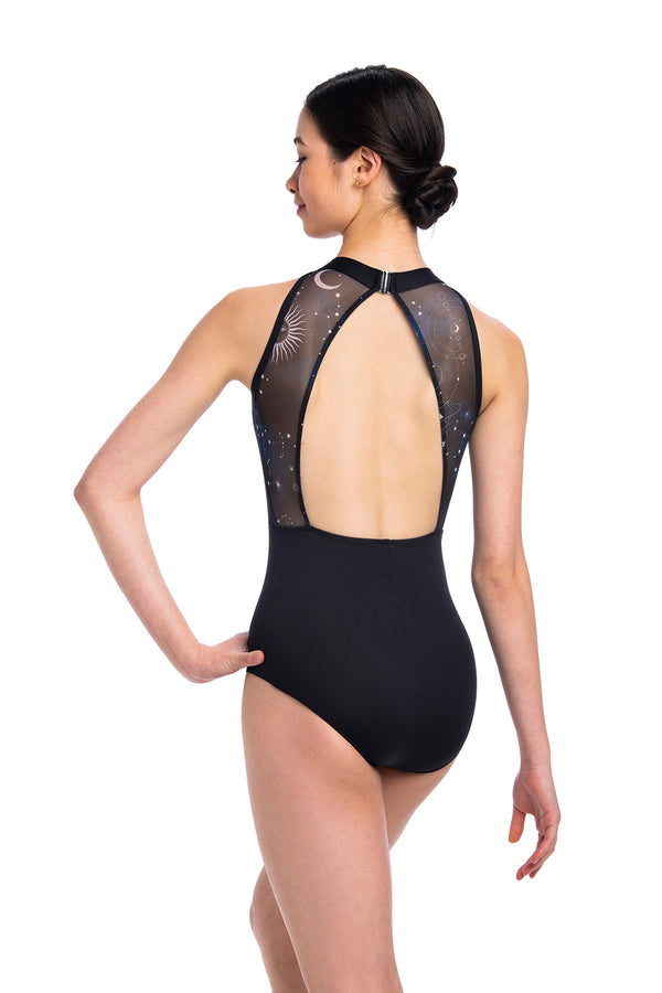 Vera Leotard with Night Sky Print