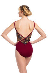 Allegra Pinch Leotard with Grand Elegance Print