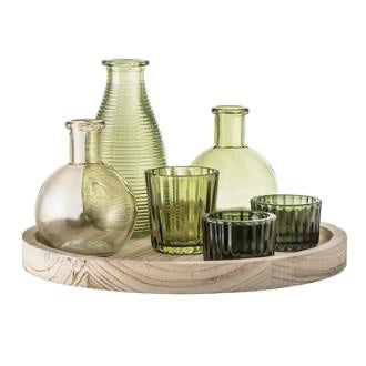 Votive glass set 7