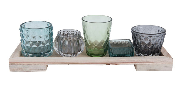 Bungalow Votive Glass Set