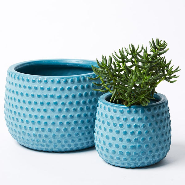 Hobnail Planters Teal