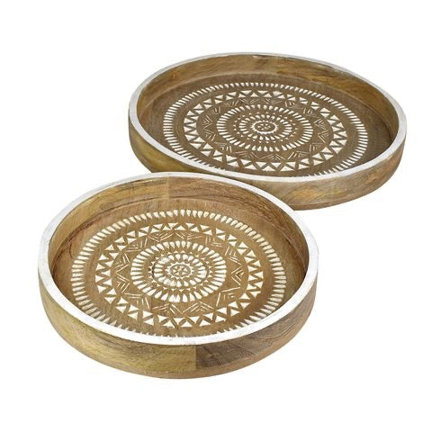 Orissa Carved Wood Tray