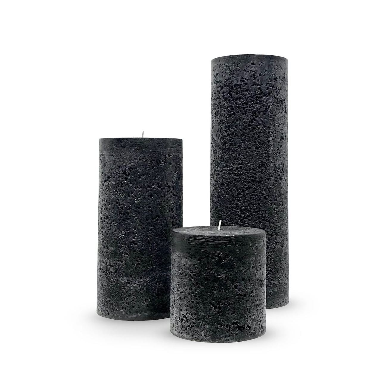 Textured Black Pillars