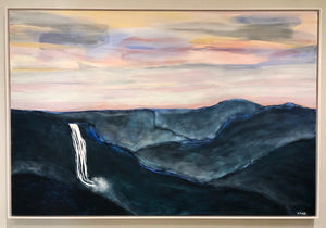 Mountains Sunset Cascade