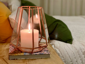 Copper Glass Lantern