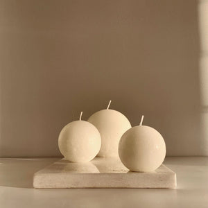 Sphere Candle - Warm White