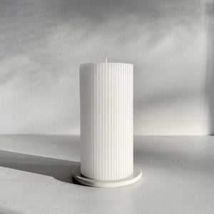Ripple Candle - Pure White