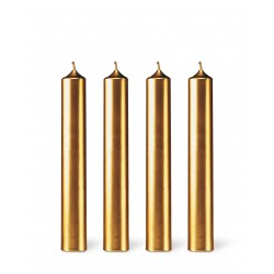 Gold Dinner Candles