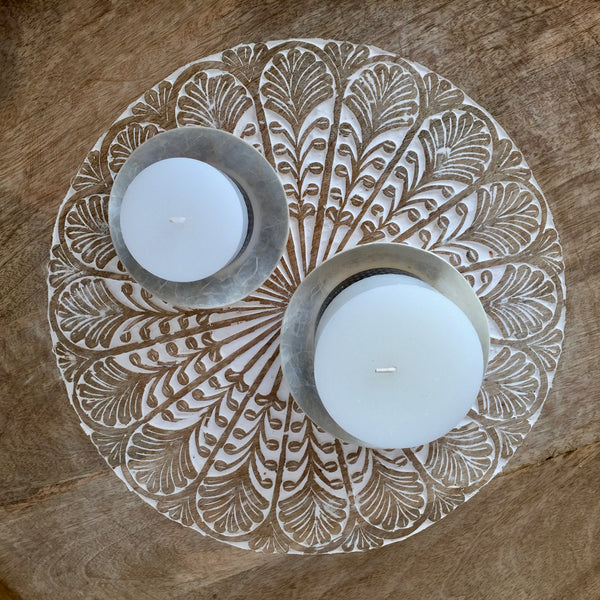 Capiz Candle Plate/Tray