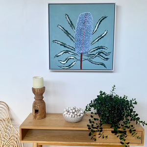 Blue Banksia Portrait