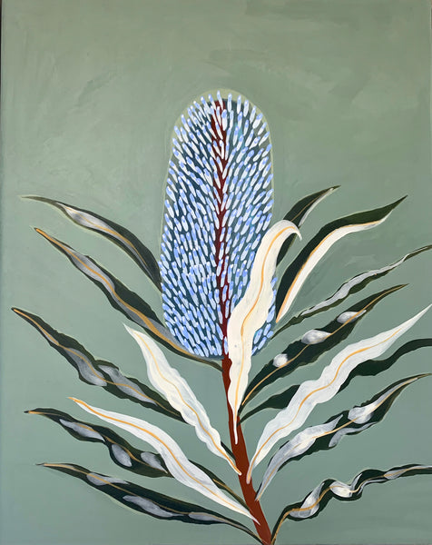 Blue Banksia Portrait #2
