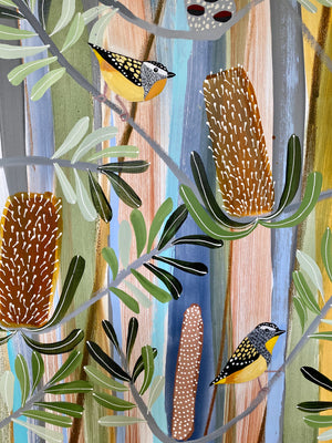 Spring Banksia with Pardalotes
