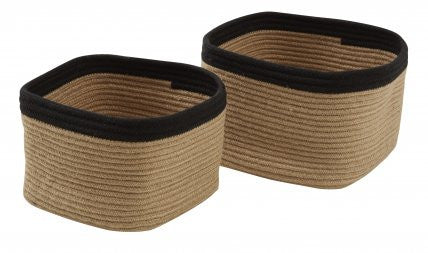Nora Square Baskets - Black / Small - Moontree Candles and Homewares Leura - 1