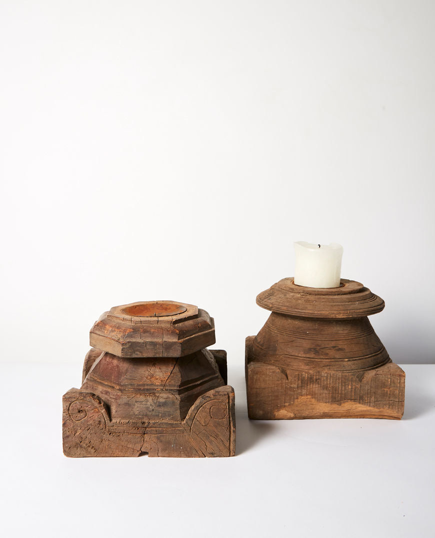 Bhadra Timber Candle Stand