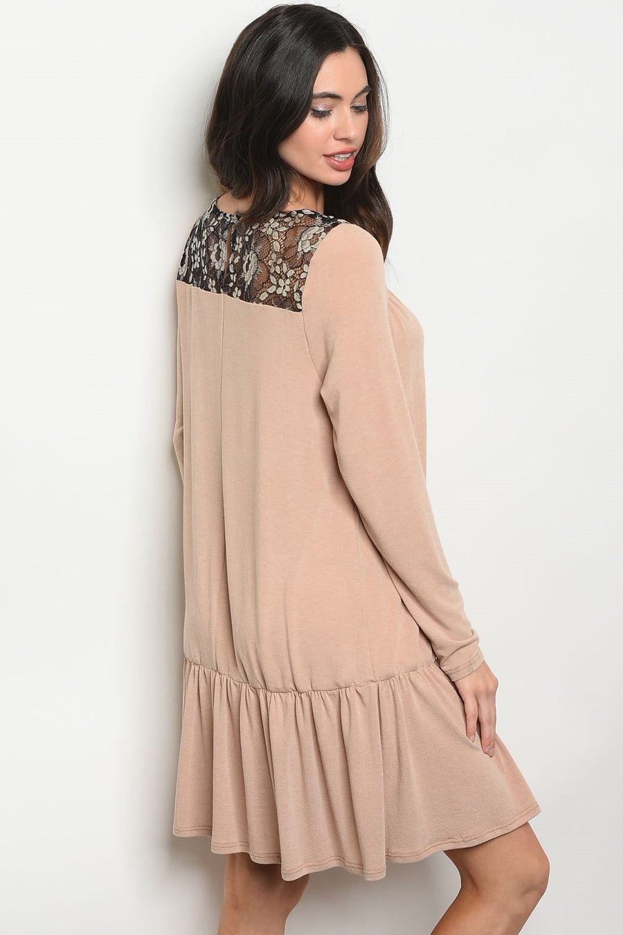 Taupe Dress - TrendyLyfeUSA