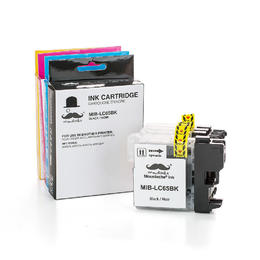 Brother LC65 Compatible Ink Cartridge Combo BK/C/M/Y - Moustache®