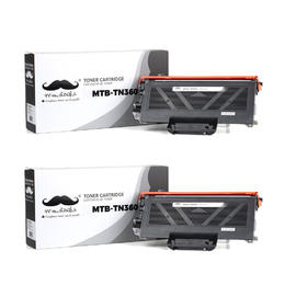 Brother TN360 Compatible Black Toner Cartridge - Moustache® - 2/Pack