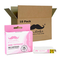 Epson 78 T078620 Compatible Light Magenta Ink Cartridge - Moustache® - 10/Pack