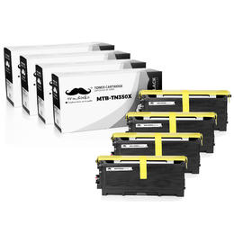 Brother TN350X Compatible Black Toner Cartridge Extra High Yield - Moustache® - 4/Pack