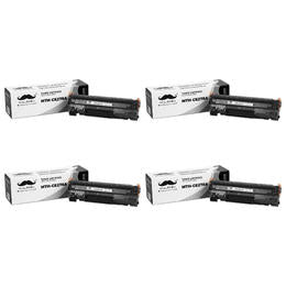 Compatible HP 78A CE278A Black Toner Cartridge - Moustache® - 4/Pack