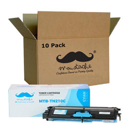 Brother TN210C Compatible Cyan Toner Cartridge - Moustache® - 10/Pack