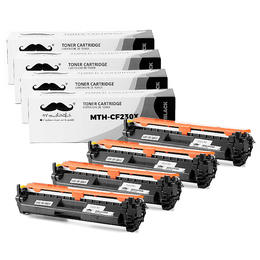 Compatible HP 30X CF230X Black Toner Cartridge High Yield With Chip - Moustache® - 4/Pack