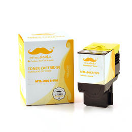 Lexmark 80C1HY0 Compatible Yellow Toner Cartridge High Yield - Moustache®