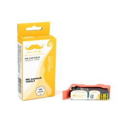 Lexmark 100XL 14N1071 14N1056 Compatible Yellow Ink Cartridge High Yield - Moustache®