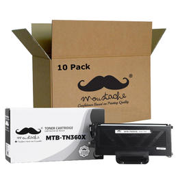Brother TN-360X Compatible Black Toner Cartridge Extra High Yield - Moustache® - 10/Pack