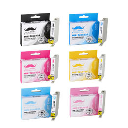 Epson 48 T048 Compatible Ink Cartridge Combo BK/C/M/Y/LC/LM - Moustache®