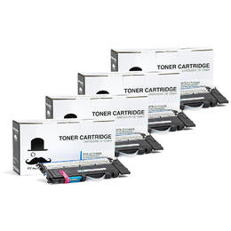 Samsung CLT-C406S ST988A Compatible Cyan Toner Cartridge - Moustache® - 4/Pack