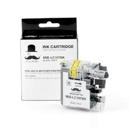 Brother LC107BK Compatible Black Ink Cartridge Extra High Yield - Moustache®