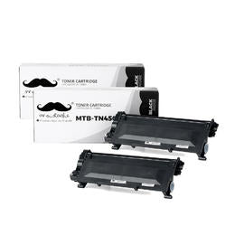 Brother TN450 Compatible Black Toner Cartridge High Yield - Moustache® - 2/Pack