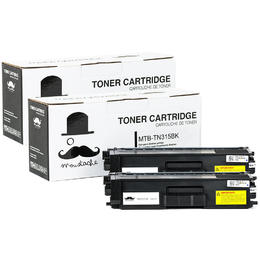 Brother TN-315 Compatible Black Toner Cartridge High Yield - Moustache® - 2/Pack