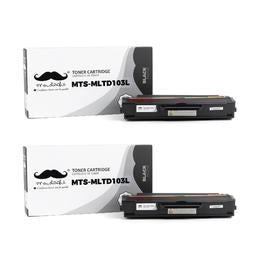Samsung MLT-D103L Compatible Black Toner Cartridge High Yield - Moustache® - 2/Pack