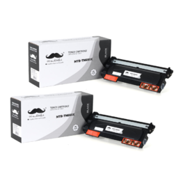 Brother TN-660X Compatible Black Toner Cartridge Extra High Yield - Moustache® - 2/Pack