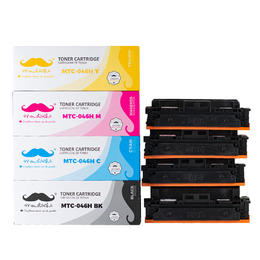 Canon 046H Compatible Toner Cartridge High Yield Combo BK/C/M/Y - Moustache®