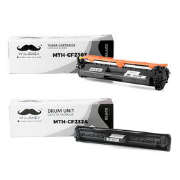 Compatible HP 30X 32A CF230X CF232A Toner Cartridge and Drum Combo - With Chip - Moustache®