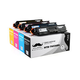 Brother TN336 Compatible Toner Cartridge Combo BK/C/M/Y - Moustache®