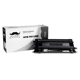 Brother TN115BK Remanufactured Black Toner Cartridge High Yield - Moustache®  - 1/Pack