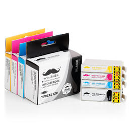 Epson 702 T702XL Remanufactured Ink Cartridge Combo High Yield BK/C/M/Y - Moustache®