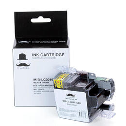 Brother LC3019BK Compatible Black Ink Cartridge Extra High Yield - Moustache®