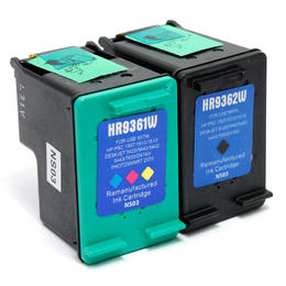 Remanufactured HP 92 HP 93 Black and Color Ink Cartridge Combo - G&G™