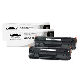 Canon 128 3500B001AA Compatible Black Toner Cartridge - Moustache® - 2/Pack