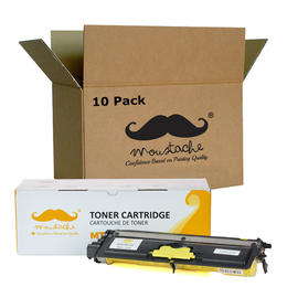 Brother TN210Y Compatible Yellow Toner Cartridge - Moustache® - 10/Pack