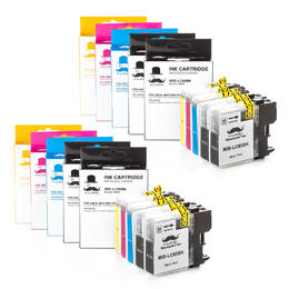 Brother LC65 Compatible Ink Cartridge Combo - 10/Pack - Moustache®