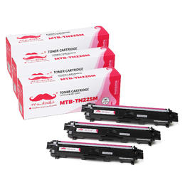 Brother TN225 Compatible Magenta Toner Cartridge High Yield - Moustache® - 3/Pack